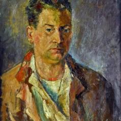 Autoportret, ulei pe pânză, 65 × 51 cm, 1956