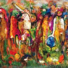 Muzica, ulei pe pânză, 80 × 99 cm, 1978