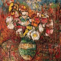 Smalţul florilor, ulei pe pânză, 55,5 × 44,5 cm, 1985