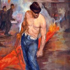 Îmblânzirea focului, ulei pe pânză, 67 × 47,5 cm, 1949