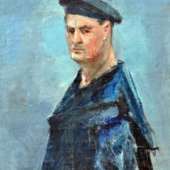 Actor de la Municipal, ulei pe pânză, 81,5 × 66 cm, 1959