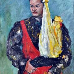 Portret de actor Nicolae Crişu, ulei pe pânză, 100 × 80 cm, 1959