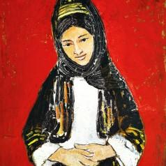 Femeie din Bitolia ulei pe carton, 68 × 49,5 cm, 1964