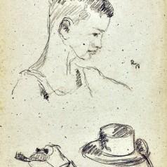 Studiu creion pe hârtie, 52 × 40,5 cm, 1958