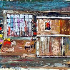 """""""Întoarcerea"""" de Mihai Beniuc, regie : Ion Olteanu tempera pe carton, 43 × 61 cm, 1961"""