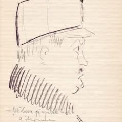 """""""Pădurea spânzuraților"""", regie : Liviu Ciulei  creion pe hârtie, 23 × 16,5 cm, 1965"""