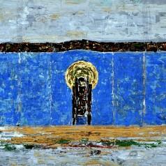 """""""Luceafărul"""" de Barbu Ștefănescu-Delavrancea, regie : Ion Cojar tempera pe carton, 35 × 50 cm, 1967"""