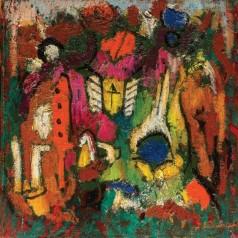 2  Izvorul culorilor, ulei pe panza, 34x34 cm, 1975