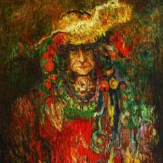 8 Lucia Sturdza Bulandra in Nebuna din Chaillot, ulei pe panza, 93x72 cm, 1972